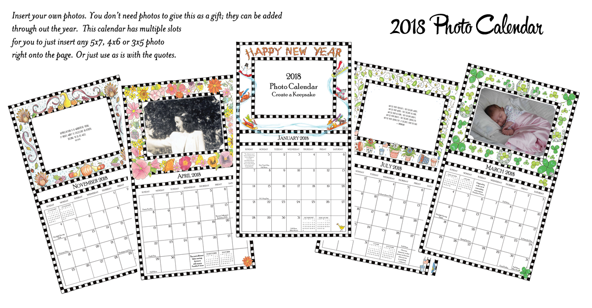 2015 Photo Calendar pages