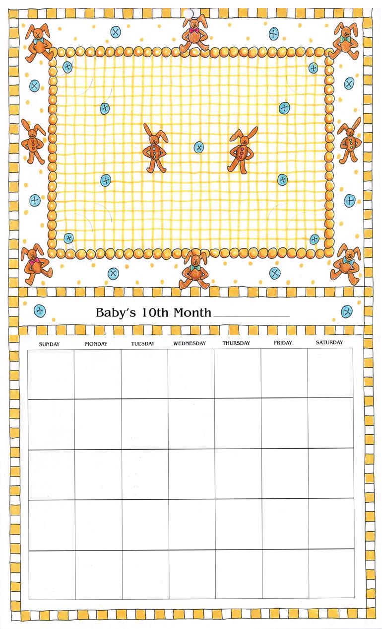Baby Calendar Design : Baby s first year calendar rose street design