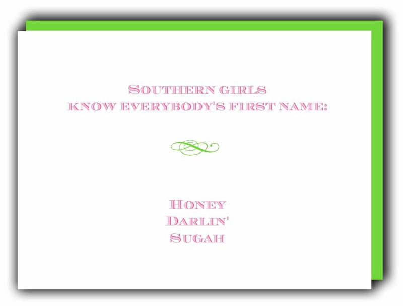 Southern Girl Notes Quot Names Quot