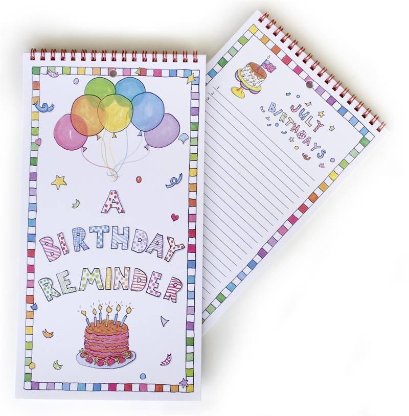 Birthday reminder calendar